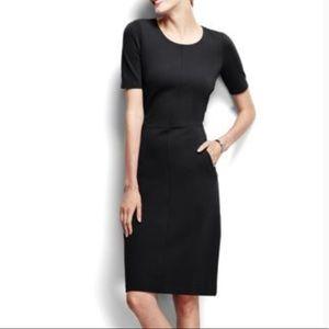 Lands' End | Ponte sheat Dress Black Size 10